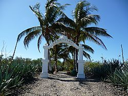 Entrance to Cabuya Island cementery