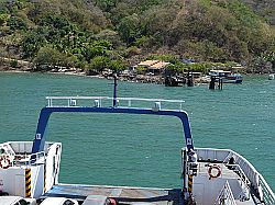 Ferry from Puntarenas arriving at Paquera